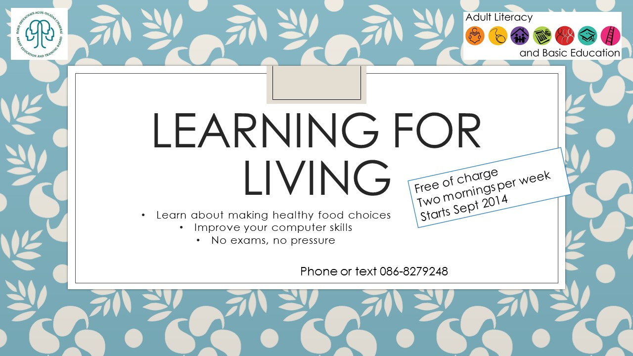 Learning for living autumn 2014 poster 1