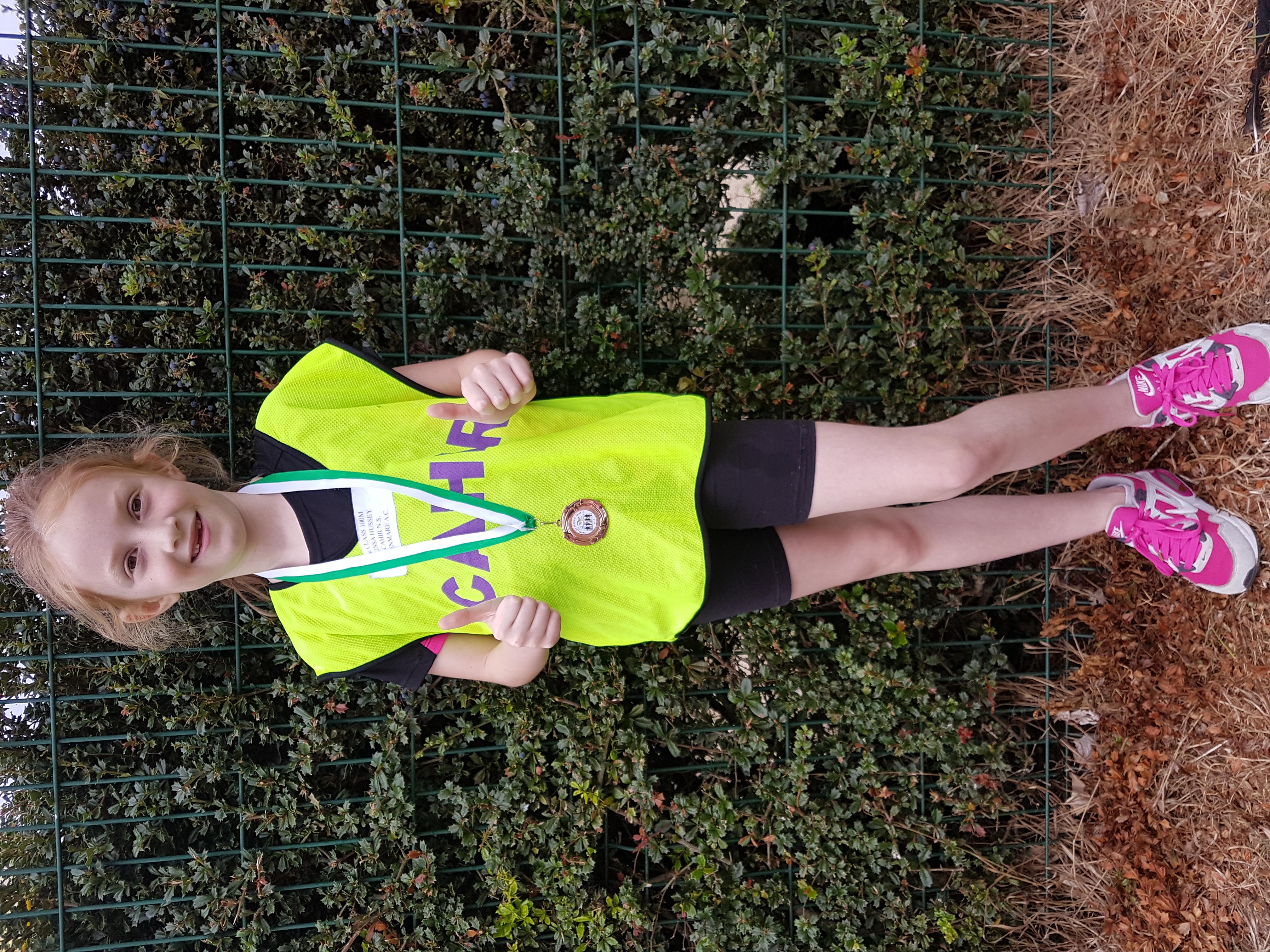 Elissa Hussey bronze medal winner