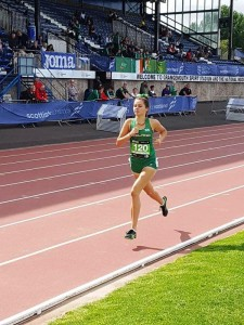 Alyce O'Connor placing second reprsenting Ireland at the Celtic games in Scotland on 4 Aug 2018