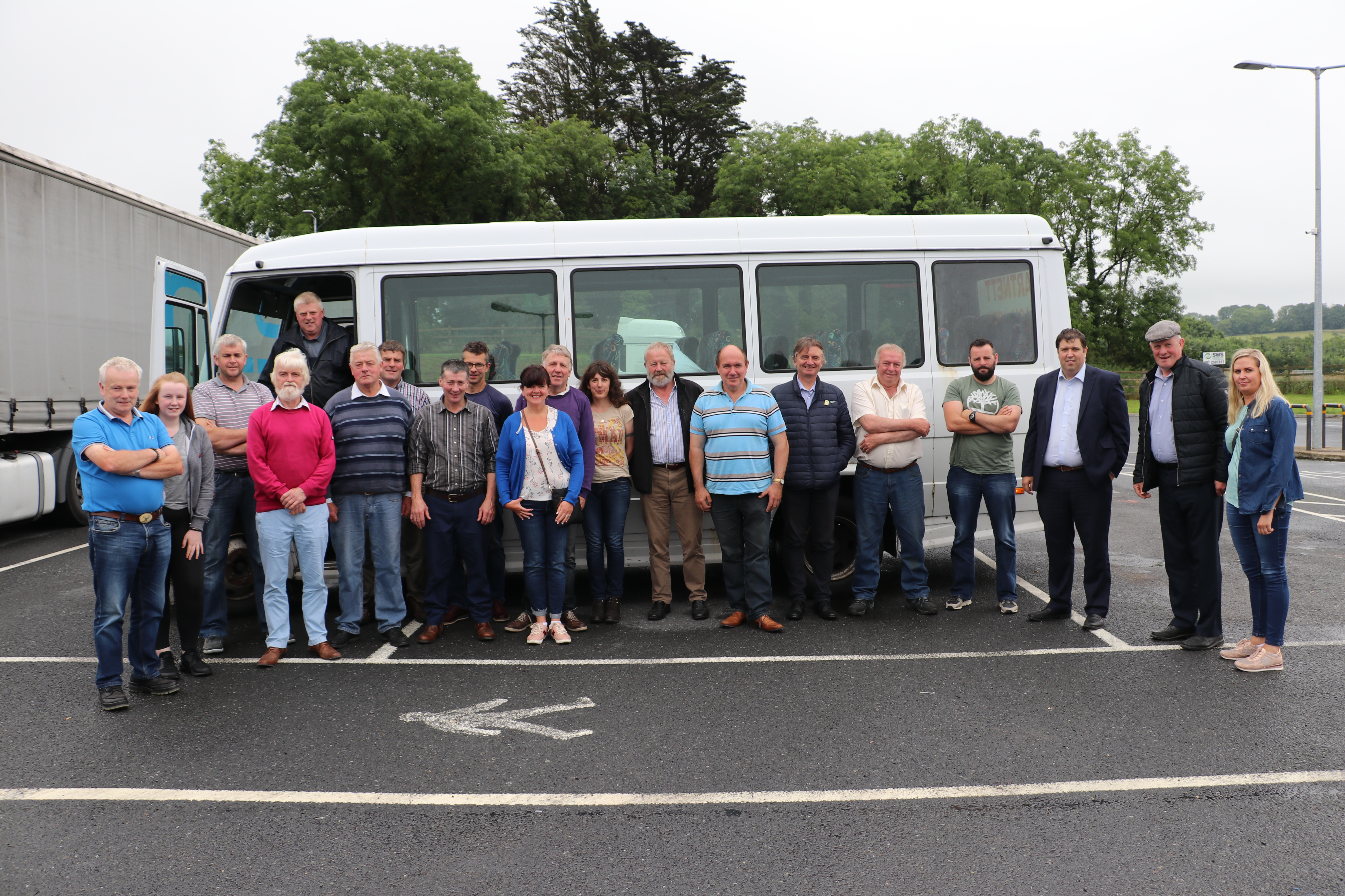 Bus going to Dublin for Beef Plan Protest