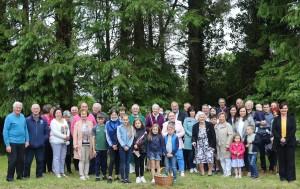 Fr Tom Crean & the congregation of Blackwater after mass Sat